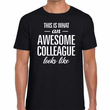 Awesome colleague tekst t shirt zwart heren