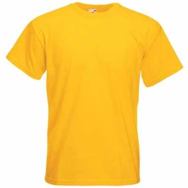 Basic geel t shirt heren