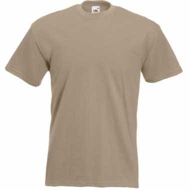 Basic kaky beige t shirt heren