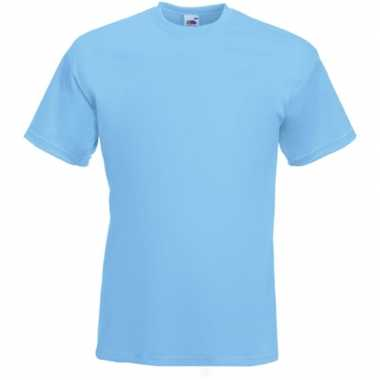 Basic licht blauw t shirt heren