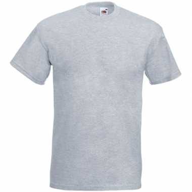 Basic licht grijs t shirt heren