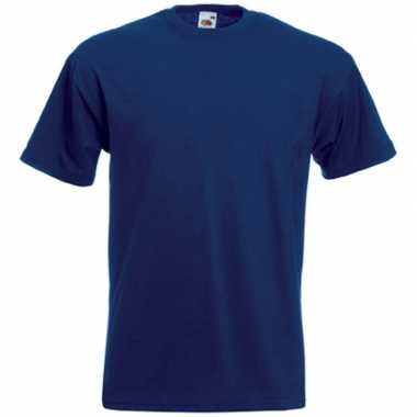 Basic navy blauw t shirt heren