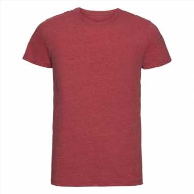 Basic ronde hals t shirt vintage washed rood heren