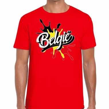 Belgie t shirt spetter rood heren