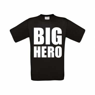 Big hero grote maten t shirt zwart heren