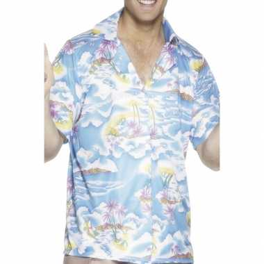 Blauw hawaii shirt