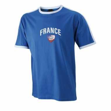 Blauw voetbalshirt frankrijk heren