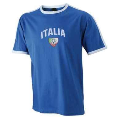Blauw voetbalshirt italie heren