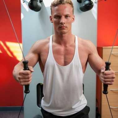 Bodybuilders heren t shirt wit