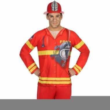 Brandweer verkleed shirt heren