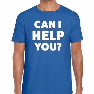 Can i help you beurs/evenementen t shirt blauw heren