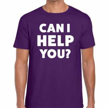 Can i help you beurs/evenementen t shirt paars heren
