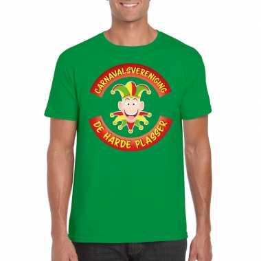 Carnavalsvereniging harde plasser limburg heren t shirt groen