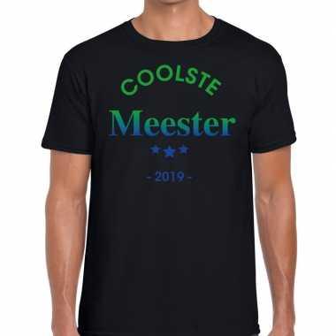 Coolste meester cadeau t shirt zwart heren