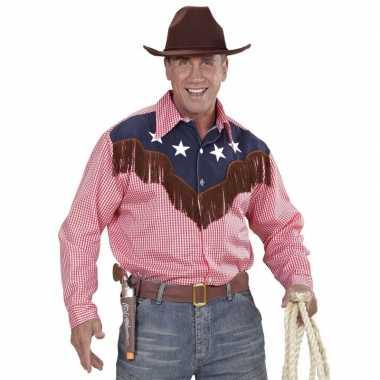 Cowboy verkleed shirt geruit heren