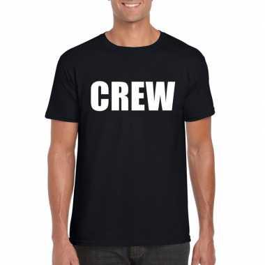 Crew tekst t shirt zwart heren
