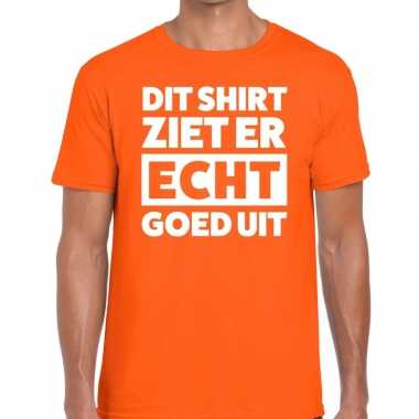 Dit shirt ziet er echt goed uit t shirt oranje heren