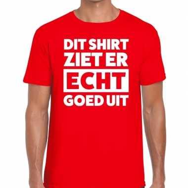 Dit shirt ziet er echt goed uit tekst t shirt rood heren