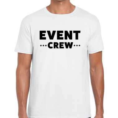Event crew / personeel tekst t shirt wit heren