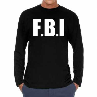 F.b.i. long sleeve t shirt zwart heren