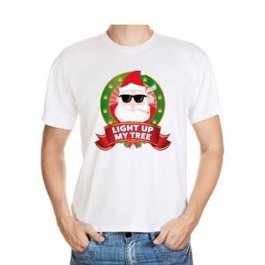Foute kerst t shirt stoned kerstman heren