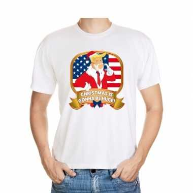 Foute kerst trump t shirt christmas is gonne be huge heren