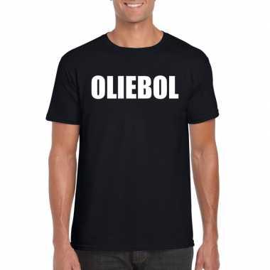 Foute oud nieuw t shirt oliebol zwart heren