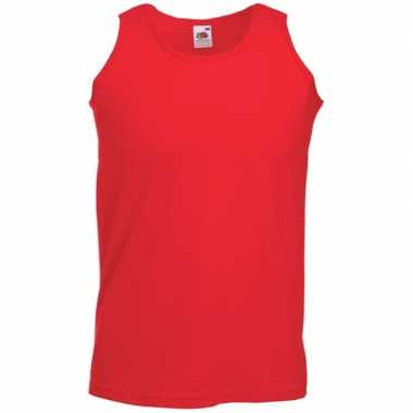 Fruit of the loom rood singlet mouwloos shirt