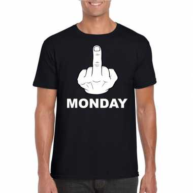Fuck monday t shirt zwart heren