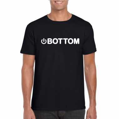 Gay shirt power bottom zwart heren