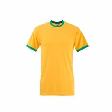 Geel groen ringer t shirt