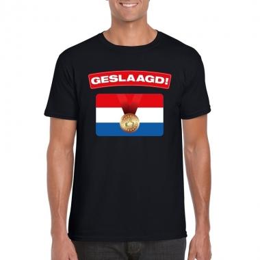 Geslaagd vlag t shirt zwart heren