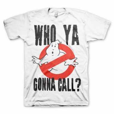 Ghostbuster t shirt heren wit