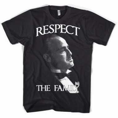Godfather respect t shirt heren