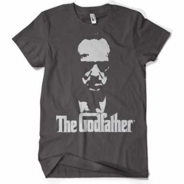 Godfather t shirt grijs heren