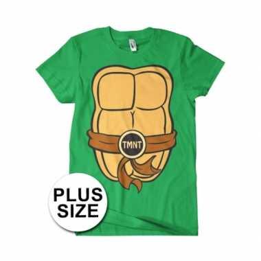 Grote maat ninja turtles verkleed t shirt heren