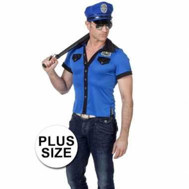 Grote maten politie shirt heren