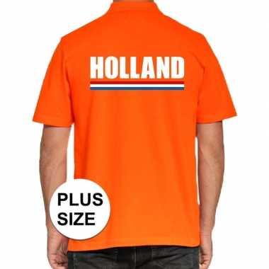 Grote maten poloshirt oranje holland heren