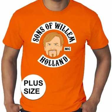 Grote maten sons of willem oranje shirt heren