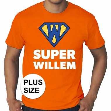 Grote maten super willem oranje shirt heren