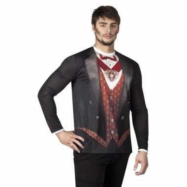 Halloween heren shirt vampier opdruk
