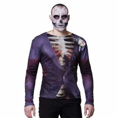 Halloween heren shirt zombie bruidegom