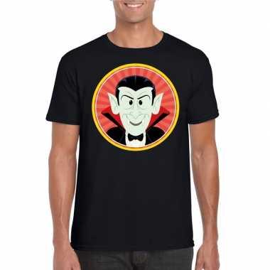 Halloween vampier/dracula t shirt zwart heren