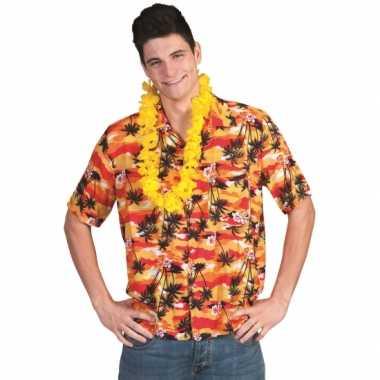 Hawaii shirt rood/oranje
