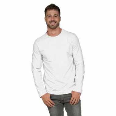 Heren shirt wit lange mouwen