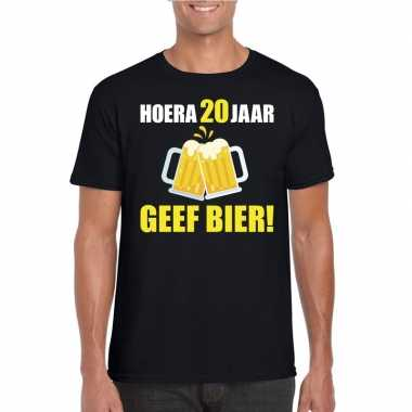 Hoera jaar geef bier t-shirt zwart heren 10123235