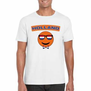 Holland coole smiley t shirt wit heren