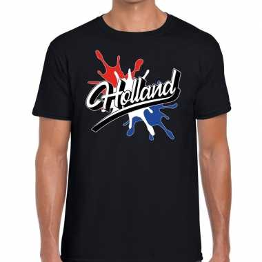 Holland t shirt spetter zwart heren
