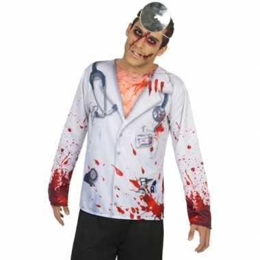 Horror dokter verkleed shirt heren