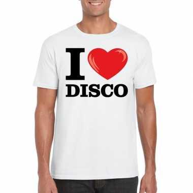 I love disco t shirt wit heren